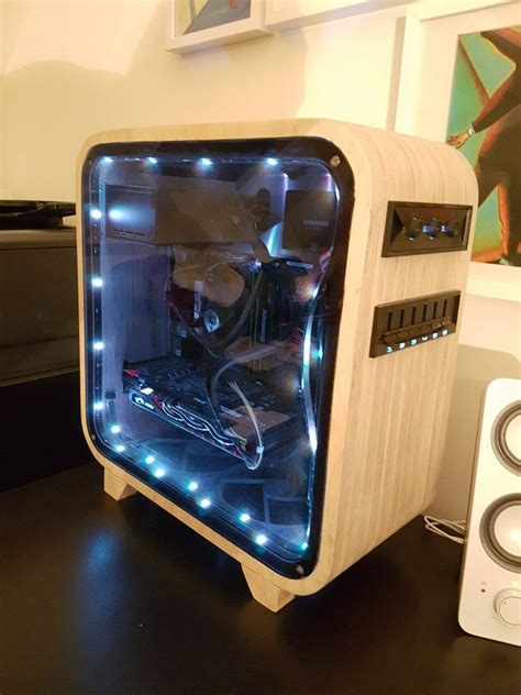 pc case diy i built a pc out of wood homemade