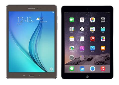 Samsung Tab 8a samsung galaxy tab a 9 7 vs apple air