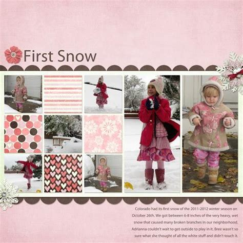Snow Layout by Papercraft Scrapbook Layout Snow Winter Layout