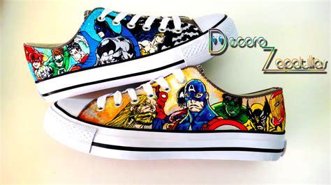 dc vs marvel shoes by j on deviantart