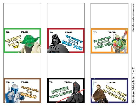 star wars printable luggage tags star wars printables valentine s day pinterest