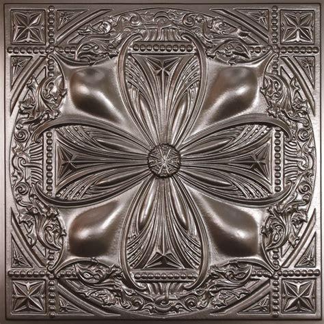 Coller Tuile by Ceilume Avalon Tuile De Plafond En Faux Etain 2 Pieds X 2