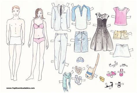 family cut out templates free printable paper doll cutout templates for and adults