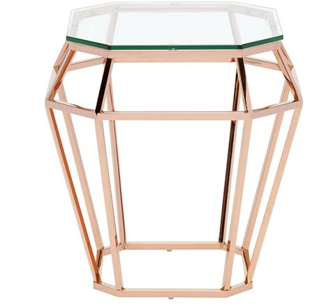 rose gold side table nuevo rose gold side table matthew izzo
