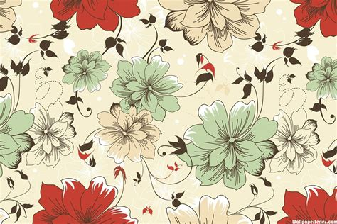 flower pattern vintage free download hd vintage flower pattern wallpaper download free 139344