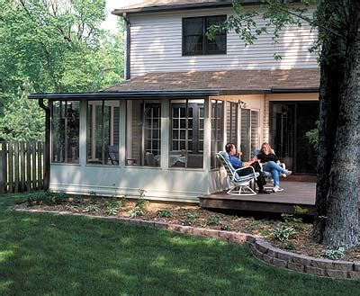 convert an existing deck into a sunroom