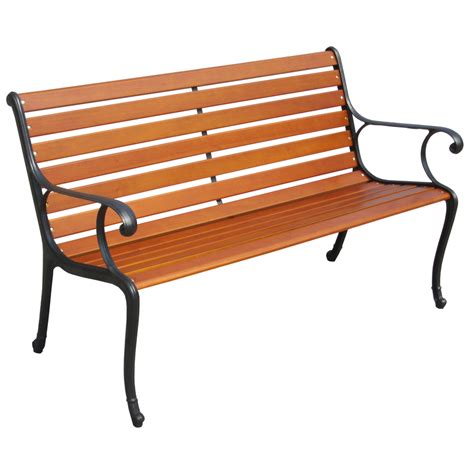 garden bench lowes shop garden treasures 50 in l painted wood patio bench at lowes com