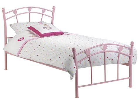 girls bed frame pink childrens kids girls metal bed frame bedstead single