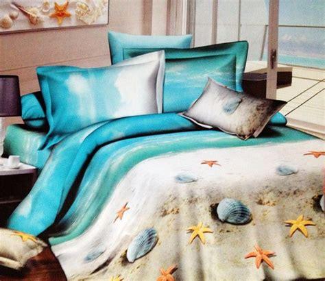 Cheap King Comforter Set Aliexpress Com Buy Blue Ocean Seashells Sandy Beach