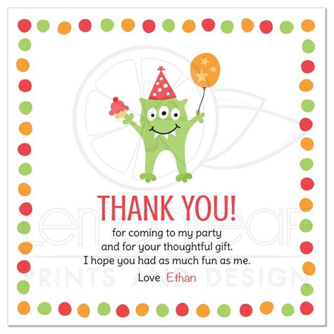 Thank You Letter Balloons with three balloon and hat birthday