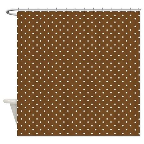 Small Brown Polka Dot Shower Curtain By Inspirationzstore