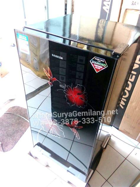 Lemari Kulkas Kaca jual lemari es sanken skg170bk kulkas pintu kaca asli