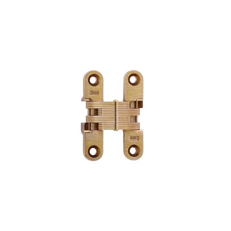 soss invisible hinge installation soss 1 2 in 2 3 8 in satin brass invisible hinge 205us4