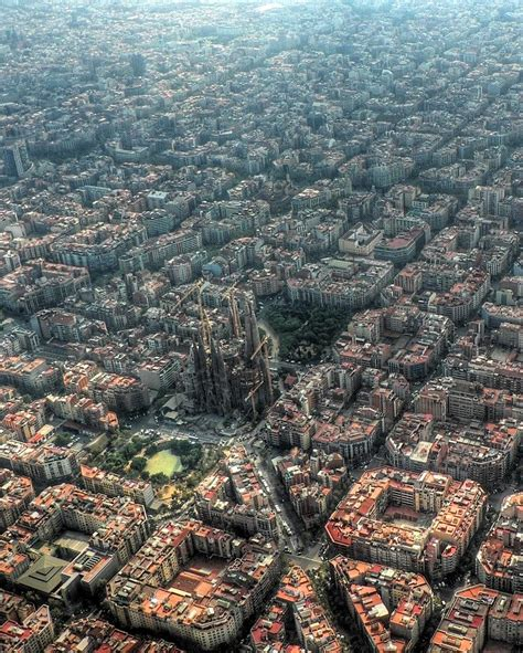 barcelona aerial view barcelona aerial photography aerial views pinterest
