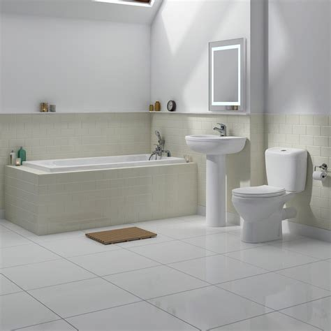 Square Shower Bath Suites melbourne 5 piece bathroom suite 3 bath size options at
