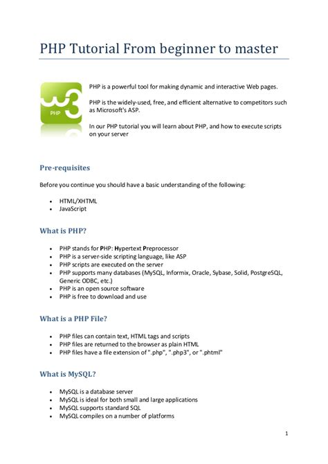 tutorial to php php tutorial from beginner to master