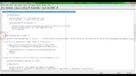 three variables Boolean functions, using the K-map in C ... C- Boolean Function Examples