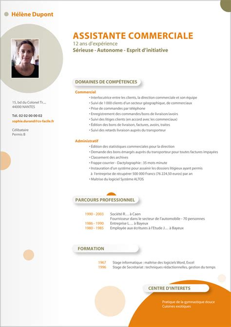 Cv In Commercial exemple cv d un commercial cv anonyme