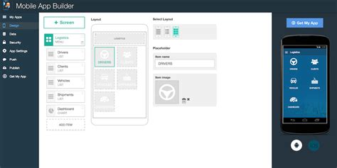 app layout builder mobile app builder new service now available ibm