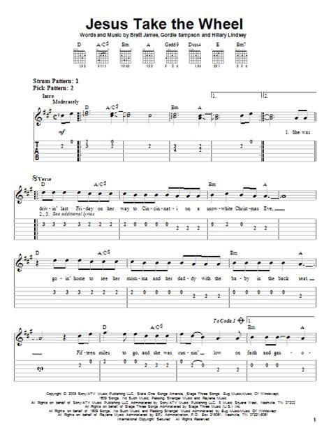 printable lyrics to jesus take the wheel jesus take the wheel sheet music direct