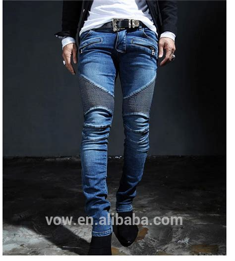 new pattern jeans for man 2015 top design custom unique fold men denim jean newest