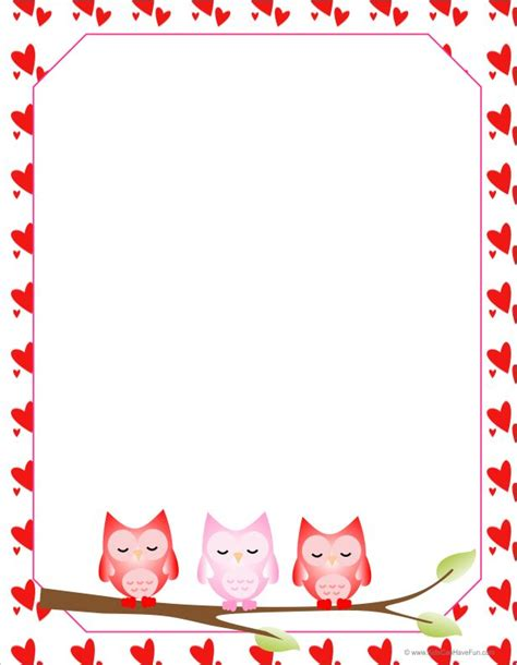 valentines paper owls letter paper png 616 215 793 owl theme unit