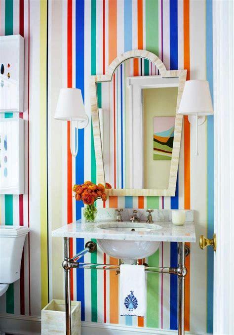 colorful wallpaper for bathroom salles de bains originales 55 id 233 es de couleurs et d 233 coration