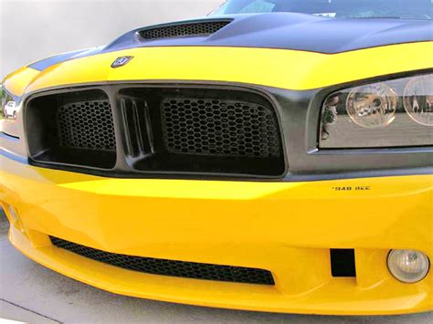 dodge charger custom grill 2006 2010 dodge charger 69 style custom grille w hex mesh