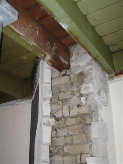 schouw dichtmetselen schoorsteen weghalen ondersteunen kleine balkjes