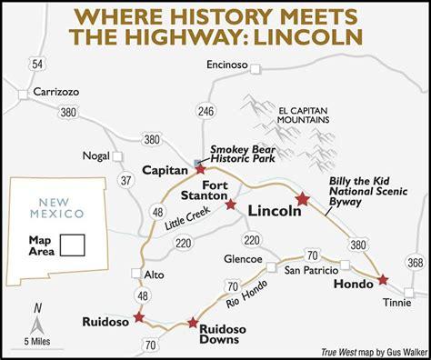 lincoln new mexico map billy the kid s legendary la placita true west magazine