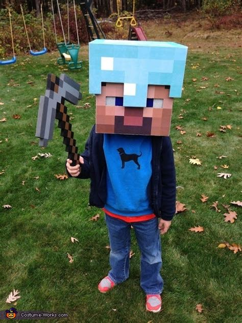minecraft diamond armor steve costume photo