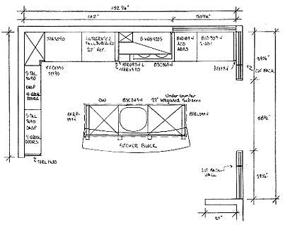 kitchen island floor plans kris allen daily plan with dimensions and nomenclature