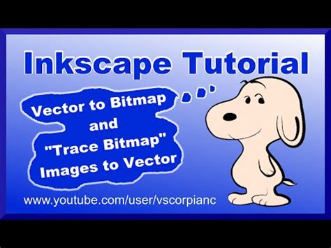 raster to vector tutorial inkscape tutorial convert bitmap image to vector image