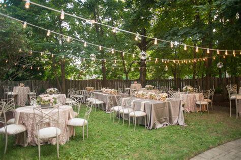 backyard receptions romantic backyard reception