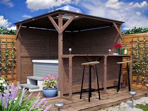 gazebi bar erin gazebo part enclosed solid walls with bar