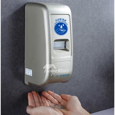blackwhitesilver gray touchless hand soap dispenser
