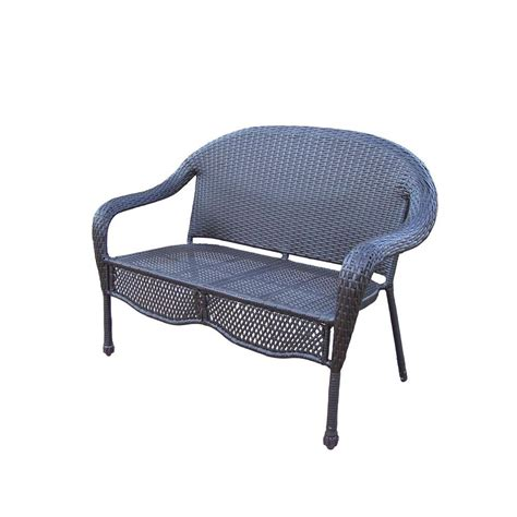 resin loveseat oakland living elite resin wicker patio loveseat 90092 l
