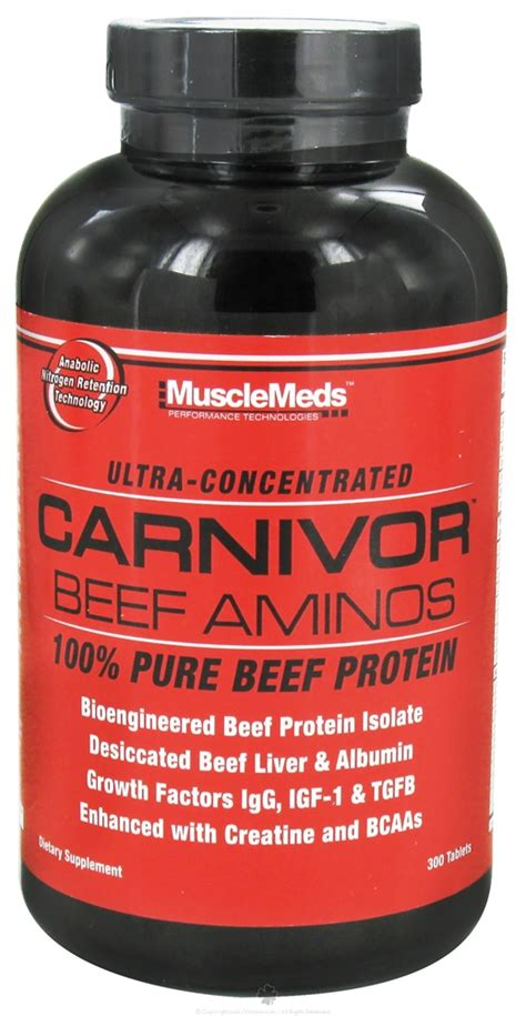 Baru Musclemeds Amino Beef Carnivor 300 Tablet buy musclemeds carnivor beef aminos 300 tablets at luckyvitamin