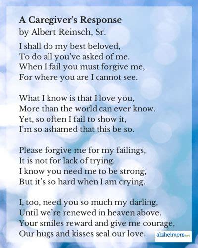 caretakers poem brain cancer awareness caregivers poems and quotes quotesgram