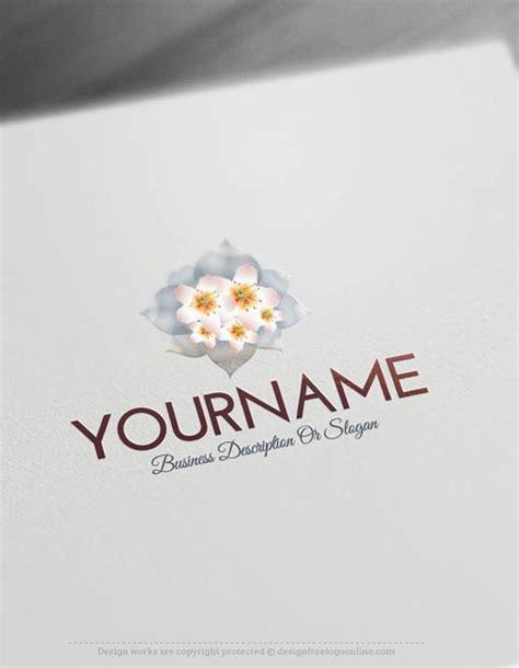 create  logo  simple flowers logo templates