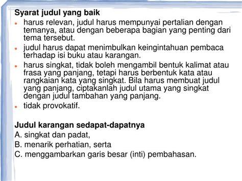Syarat Layout Yang Baik | ppt kerangka karangan powerpoint presentation id 5063729
