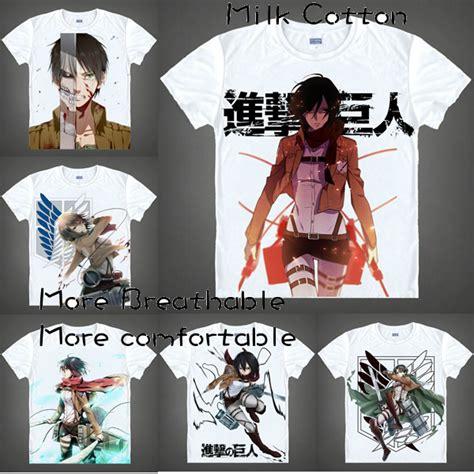 Kaos T Shirt Anime Eren Yeager Shingeki No Kyojin Snk Aot 02 japanese anime t shirt tshirt scouting legion clothes shingeki no kyojin shirt attack on