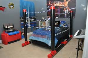 Wwe Bedroom Ideas Wrestling Ring Bed Made Out Of Pvc Pipe Wwe Pinterest