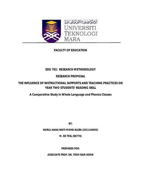 format research proposal uitm research proposal