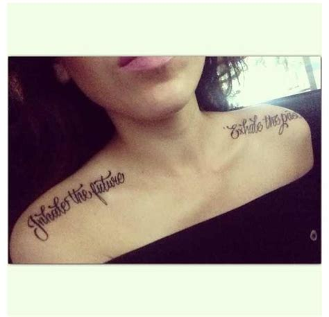 past and future tattoos my favorite quote quot inhale the future exhale