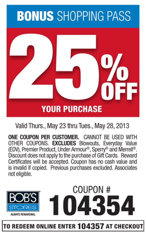 Bobs Furniture Coupons by Bob S Stores Coupon 2013 Print Coupon King