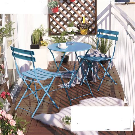 outdoor iron table and chairs balcony table and chair sets three iron table furniture