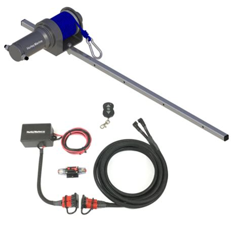 hurley electric winch for h3o davit systems for inflatable - Boat Dinghy Winch