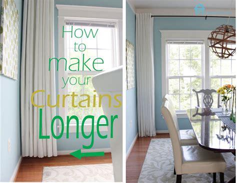 how to make curtains longer remodelando la casa how to make your curtains longer