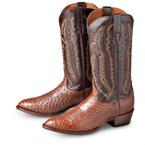smooth ostrich boots s dan post 174 smooth ostrich boots cognac 136927